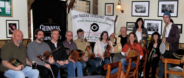 Comhaltas session in Connecticut